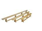 Ławka gimnastyczna 4 m nogi drewniane