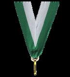 Wstążka do medali biało-zielona