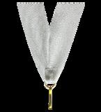 Wstążka do medali srebrna